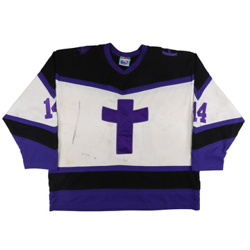 2000s Game Used Holy Cross Crusaders MAAC Jersey 2XL