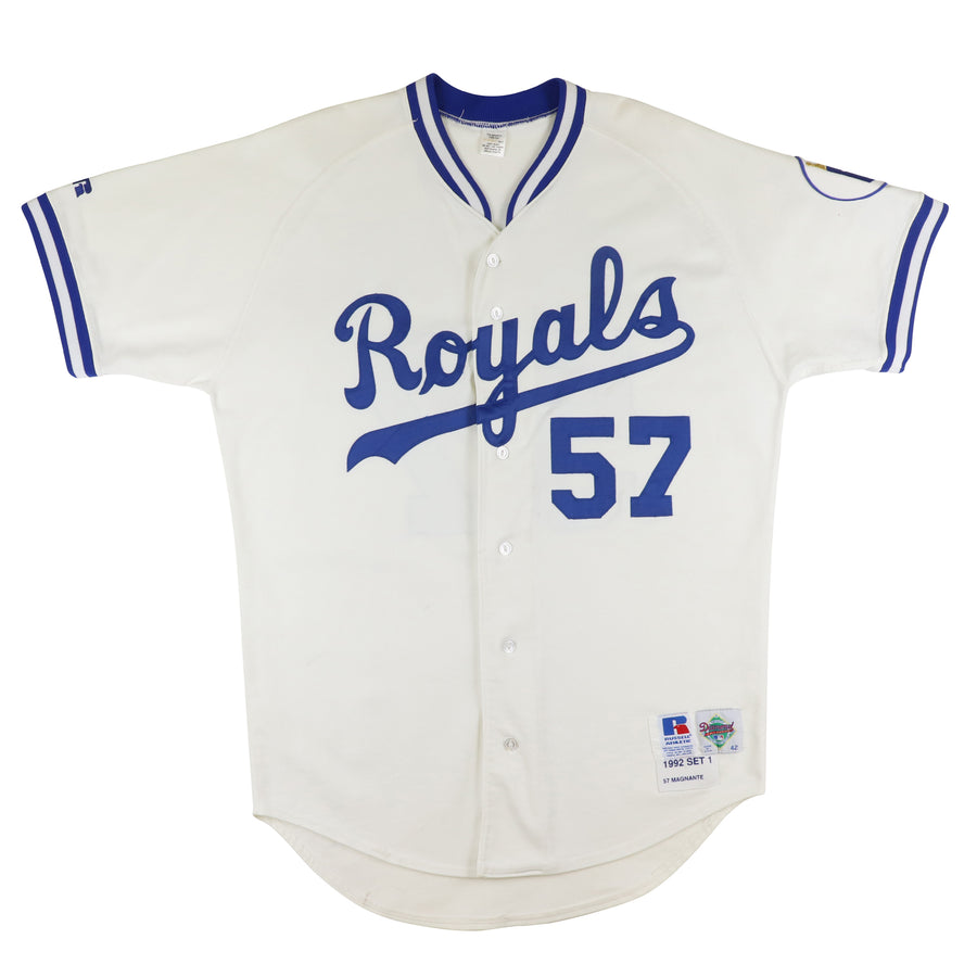 1992 Game Used Kansas City Royals Mike Magnante NOBR Jersey 42