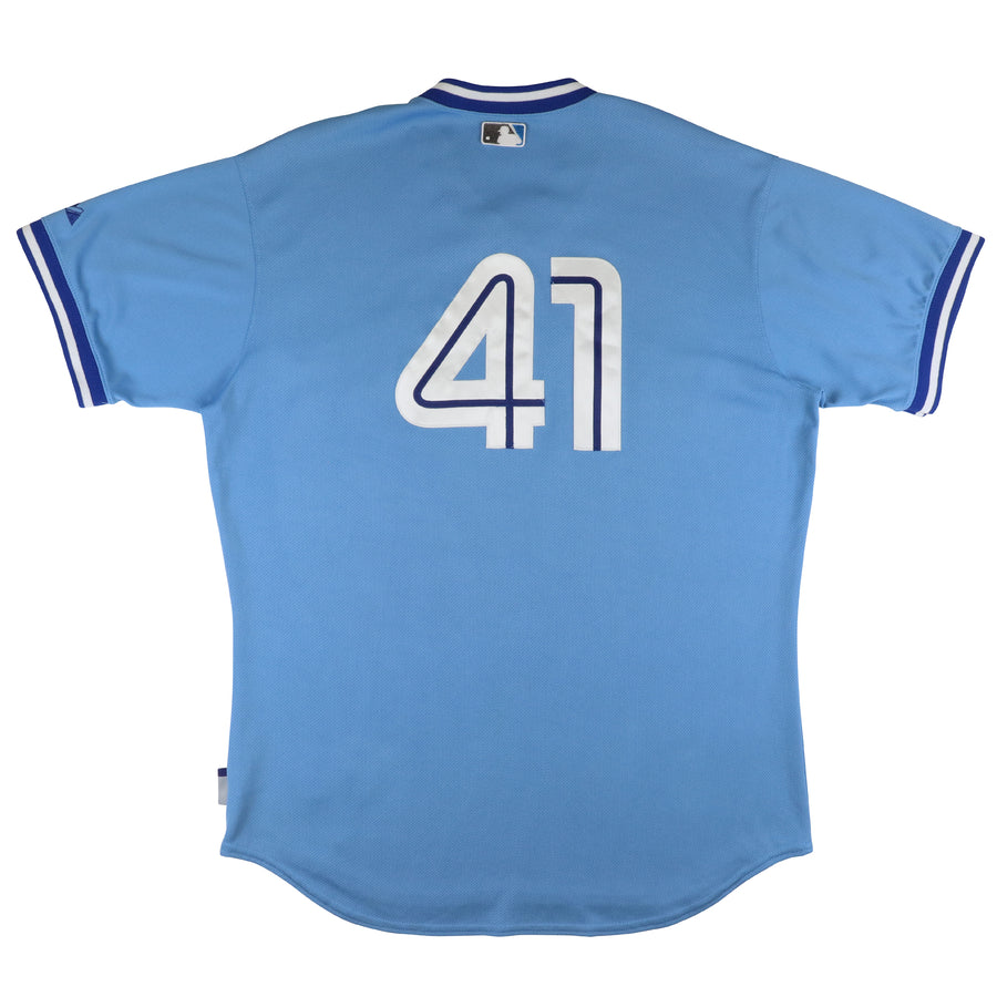 2010 Majestic Game Used Toronto Blue Jays Flashback Fridays Spring Training Jersey 48