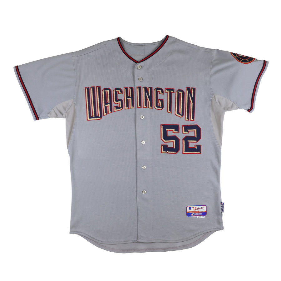 2008 Game Used Washington Nationals Saul Rivera Cool Base Road Jersey 48