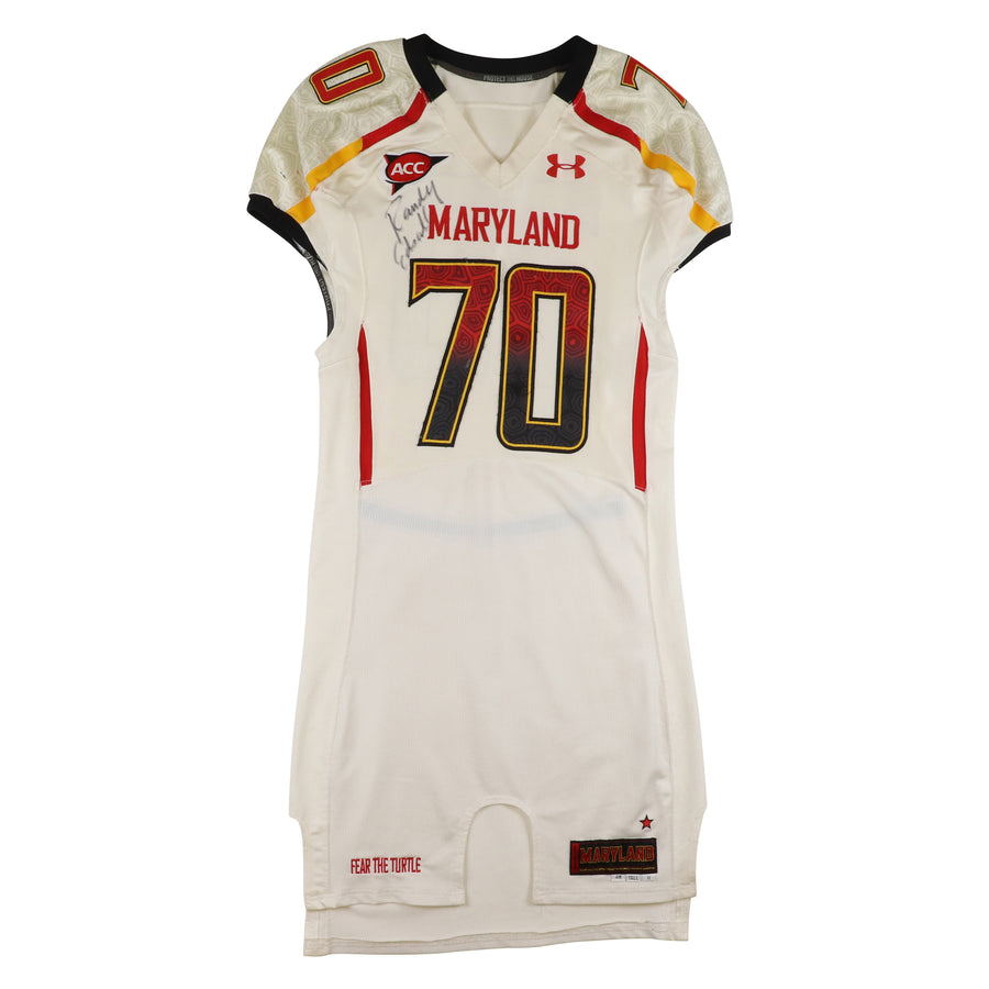 2011 Team Issued Maryland Terrapins De'onte Arnett Signed Jersey 48