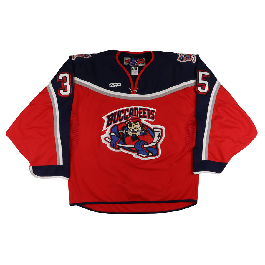 2005-2006 Team Issued Des Moines Buccaneers Goalie Jersey 56