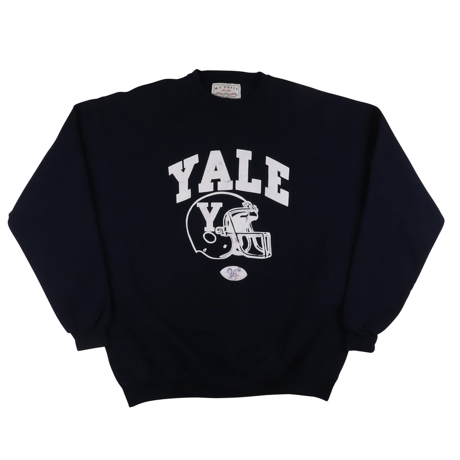 2000s Game Used Yale Bulldogs Football Warm Up Sweatshirt 2XL