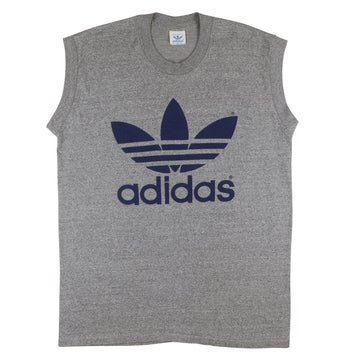 1980s Adidas Trefoil Muscle Tank Top XL