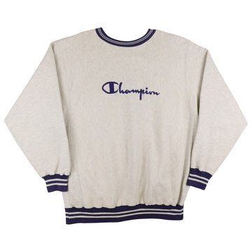 1990s Champion Reverse Weave Embroidered Spell Out Sweatshirt 2XL