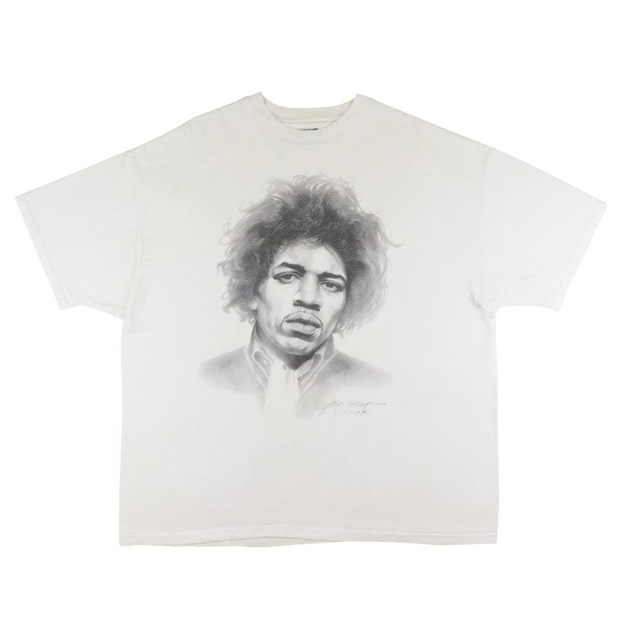 1992 Jimi Hendrix Illustration Gary Saderup Artist T-Shirt 2XL
