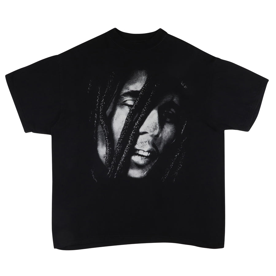 2000s Bob Marley Black & White Illustration T-Shirt XL