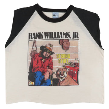 1983 Hank Williams Jr & The Bama Band 'Strong Stuff Tour' Custom Tank Top L
