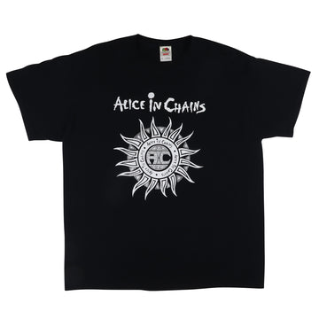 2000s Alice In Chains 1990 Logo Reprint T-Shirt XL