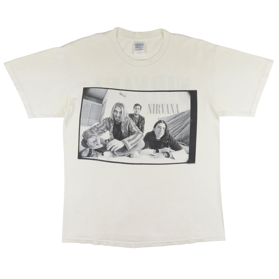 2000s Nirvana Black & White Photograph 1996 Reprint T-Shirt M