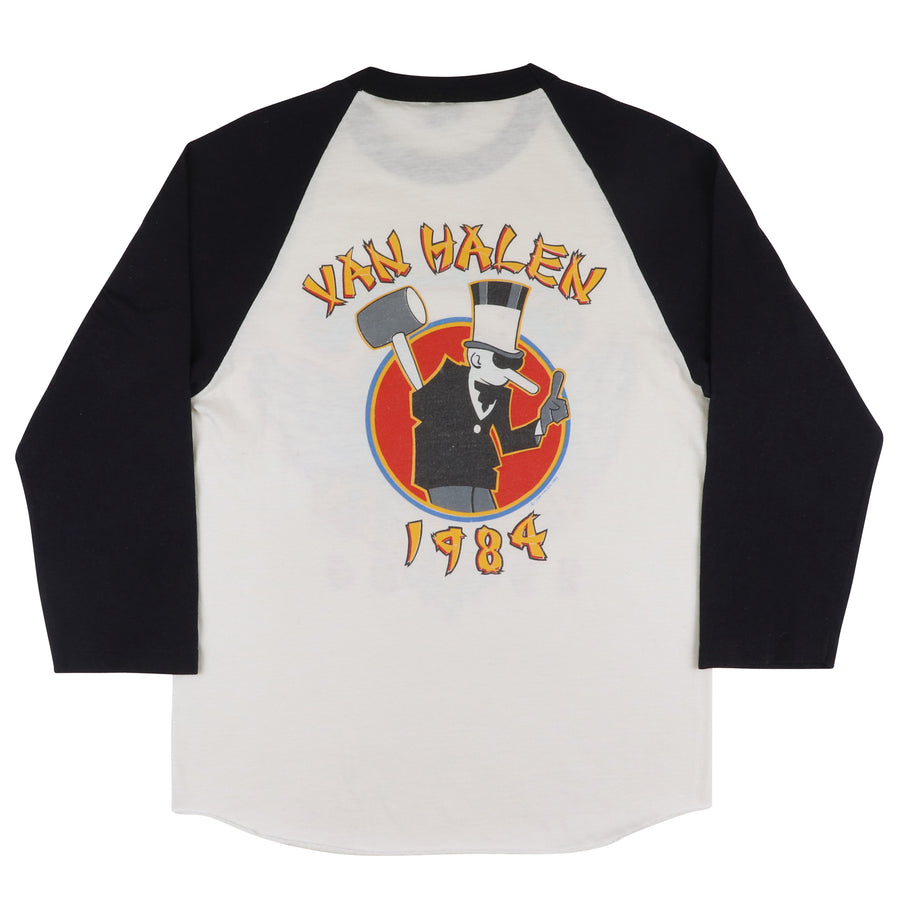 1984 Van Halen Tour Of The World Raglan T-Shirt S