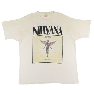 1994 Nirvana 'In Utero' Kurt Cobain RIP Thrashed T-Shirt XL