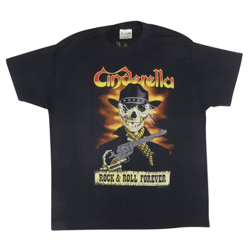 1989 Cinderella 'Rock & Roll Forever' Long Cold Winter Tour T-Shirt XL