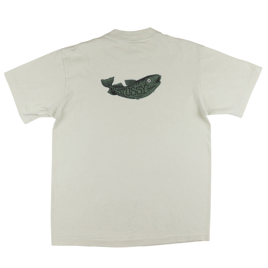 1990s Stussy 'Don't Take The Bait' T-Shirt M