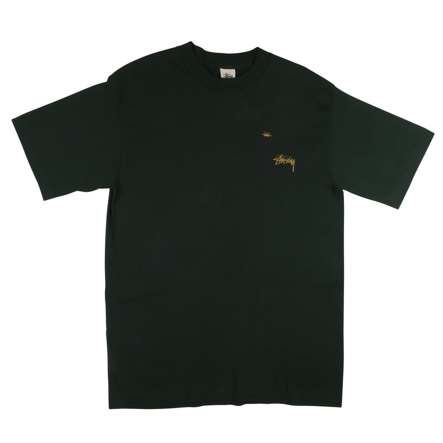 1990s Stussy 'Knowledge Is King' T-Shirt L