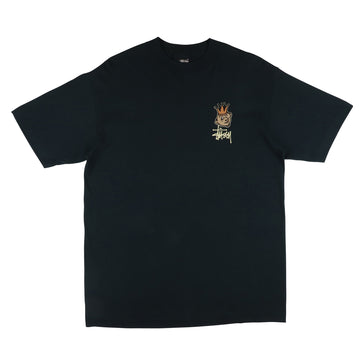 1990s Stussy Crown Jester T-Shirt L