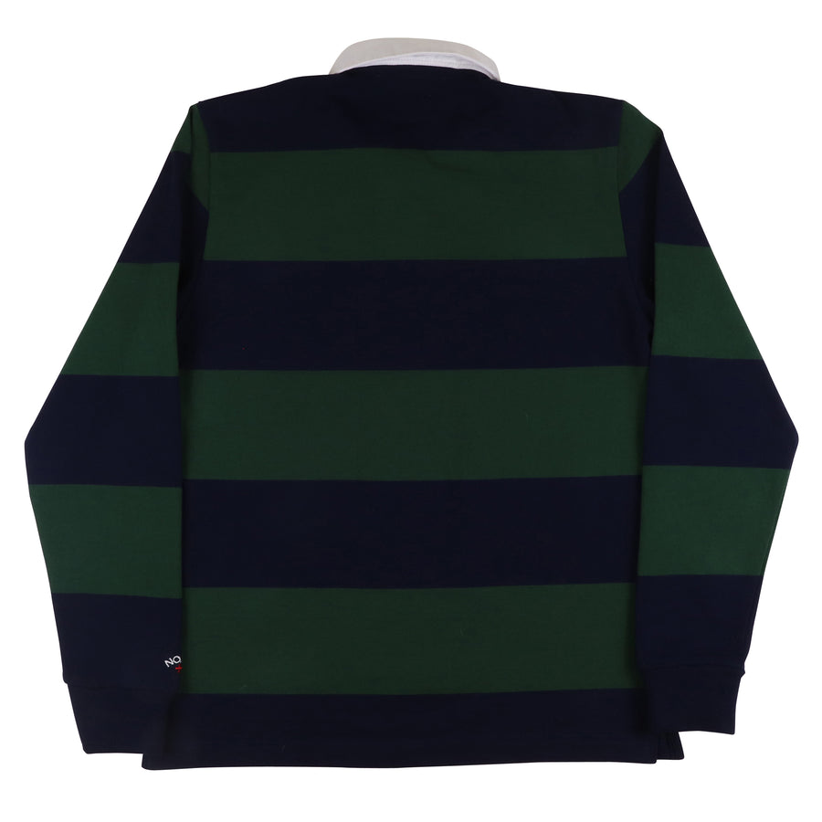 2000s Noah Straight Edge Striped Rugby Shirt S
