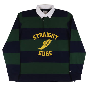 2000s Noah Straight Edge Striped Rugby Shirt M