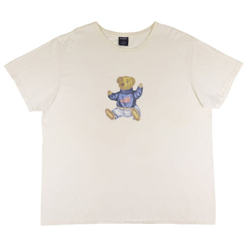 1990s Polo Sport Ralph Lauren Sit Down Bear T-Shirt 2XL