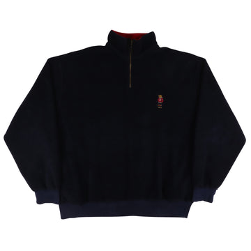 1990s Polo Ralph Lauren Standing Bear Half Zip Fleece Sweatshirt XL