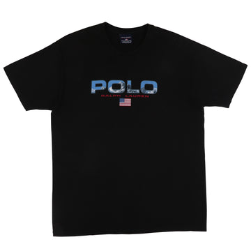 1990s Polo Sport Mountain Spell Out Flag T-Shirt M