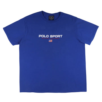 1990s Polo Sport Spell Out Flag T-Shirt L