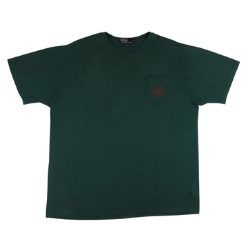 1990s Polo Ralph Lauren Circle Logo Horseman Pocket T-Shirt XL