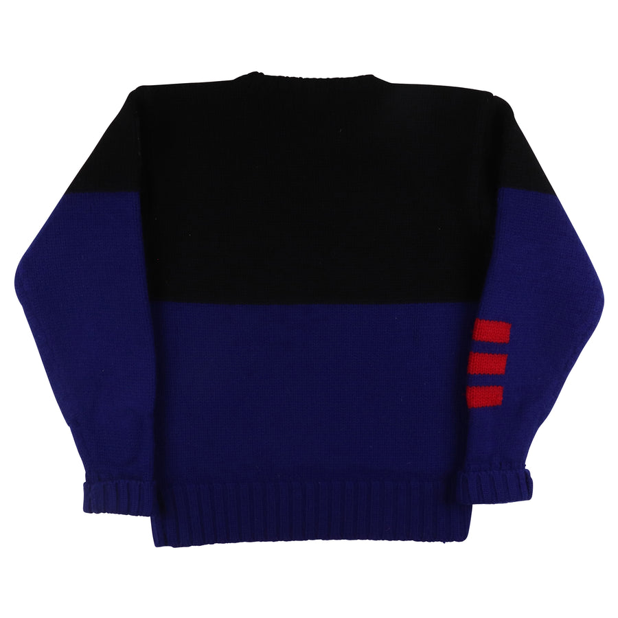 1990s Polo Ralph Lauren Ski Suicide Patch Knit Sweater L