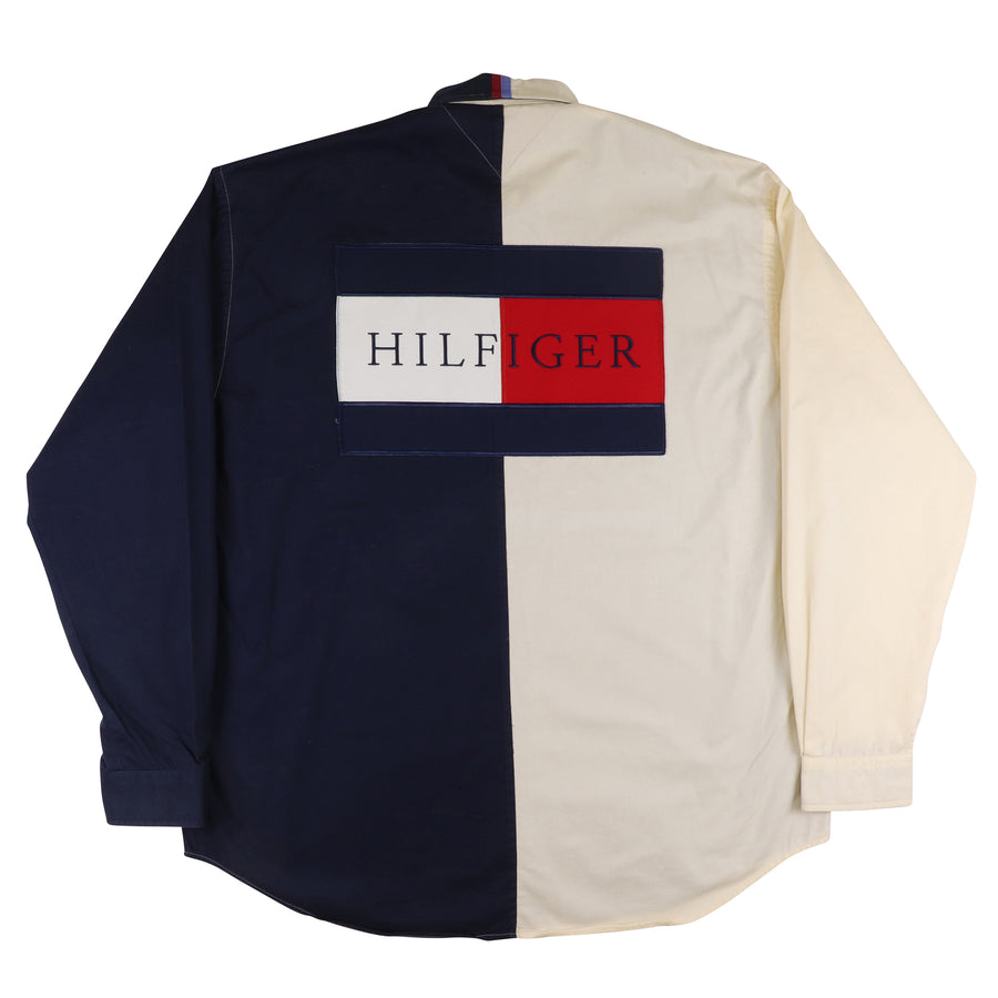 1990s Tommy Hilfiger Nautical Long Sleeve Shirt XL