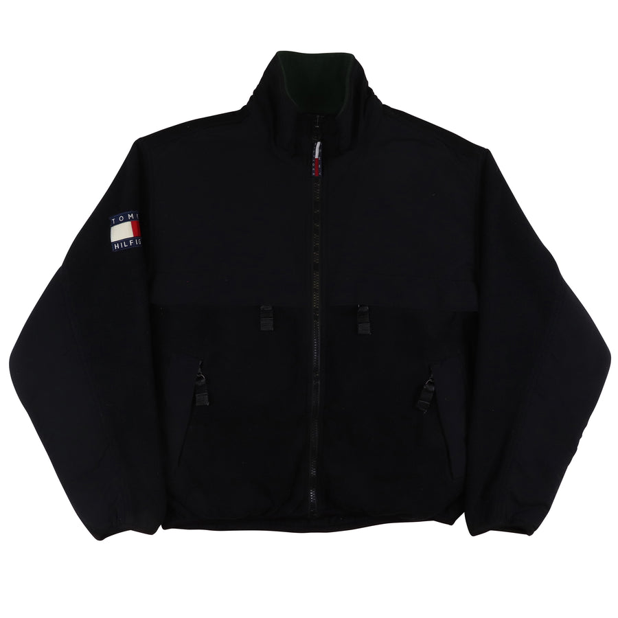 1990s Tommy Hilfiger Zip Front Fleece & Nylon Jacket M