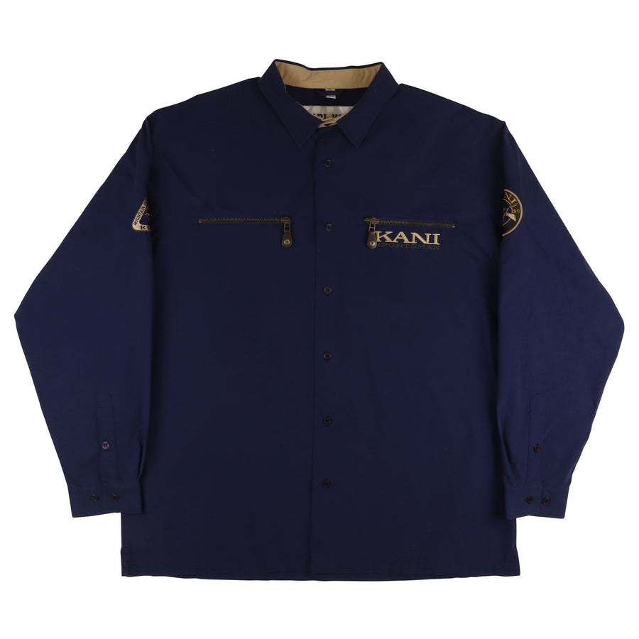 1989 Karl Kani Jeans KKJ23 Hunting Trial Long Sleeve Shirt XL