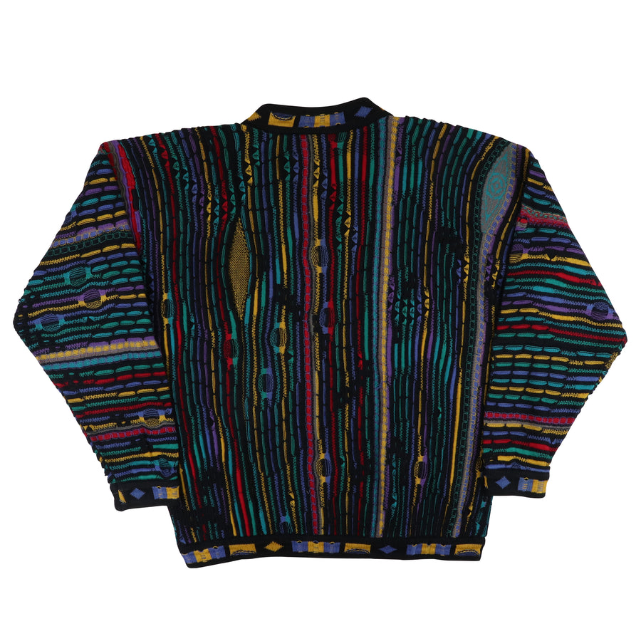 1990s Coogi Australia Multi Color 3D Knit Sweater M