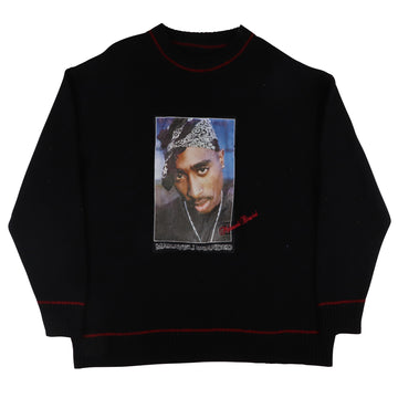 2000s Makaveli Branded Tupac 2Pac Shakur Knit Sweater 2XL
