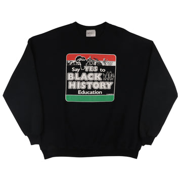 1989 Say Yes To Black History Education Sweatshirt 2XL