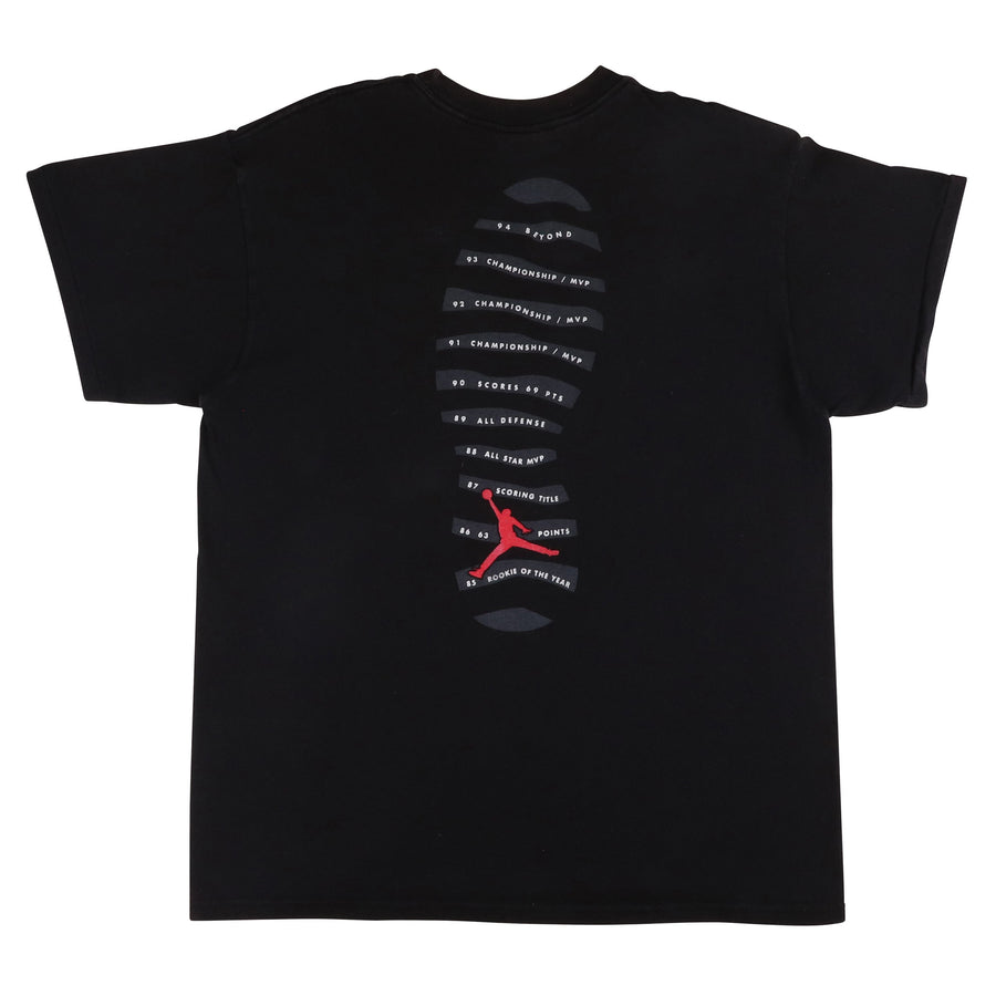 1994 Nike Air Jordan X 10 Accomplishments T-Shirt XL Youth