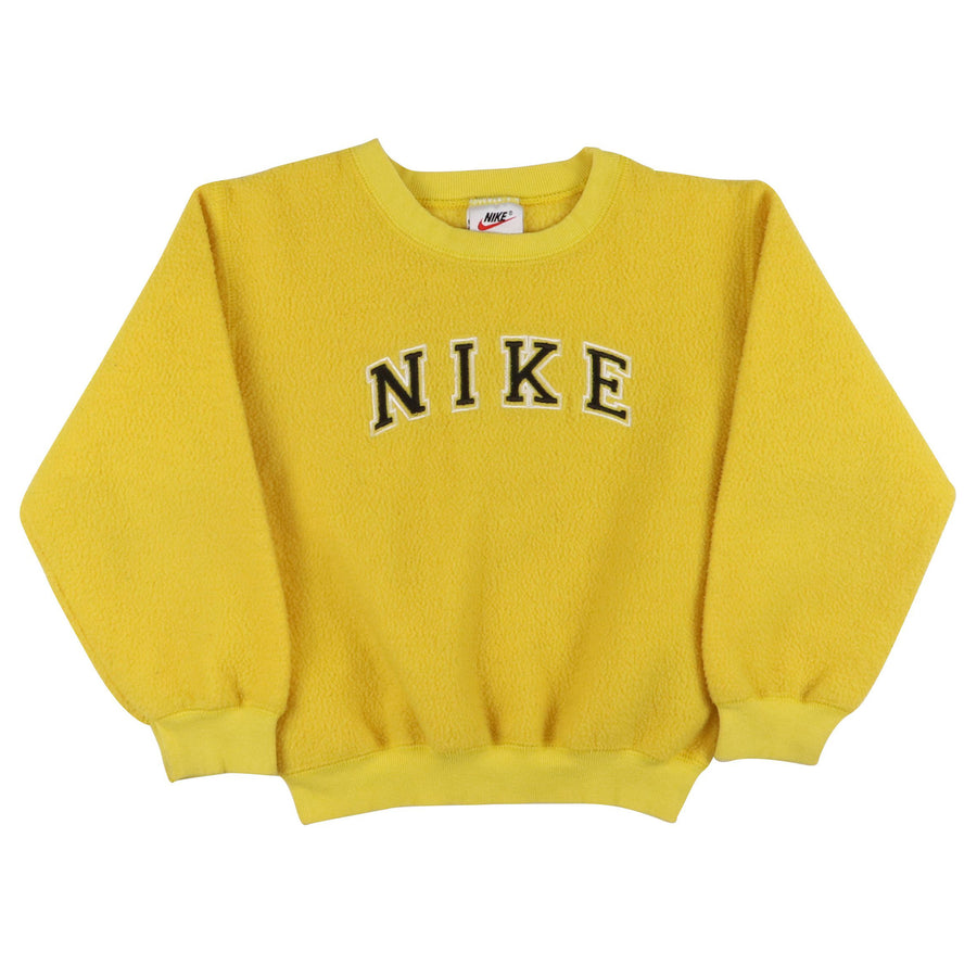 1990s Nike Spell Out Reverse Fleece Sweatshirt S Youth