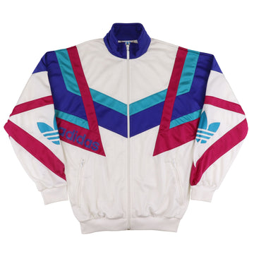 1980s Adidas Trefoil Graphic Track Jacket L Youth