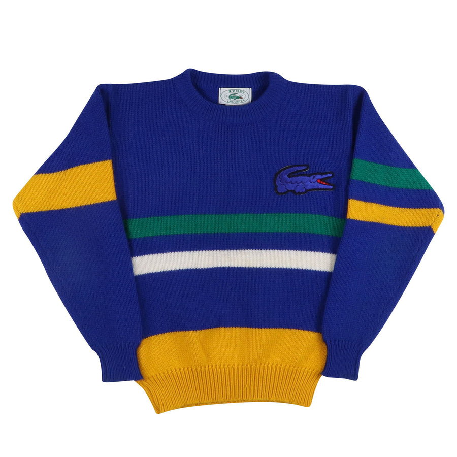 1980s Lacoste Striped Knit Sweater S Youth