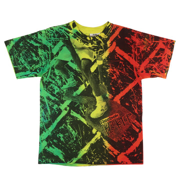 1990s Reebok Blacktop All Over Print T-Shirt L Youth
