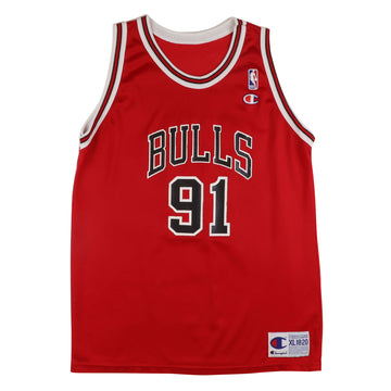 1990s Champion Chicago Bulls Dennis Rodman Jersey XL Youth