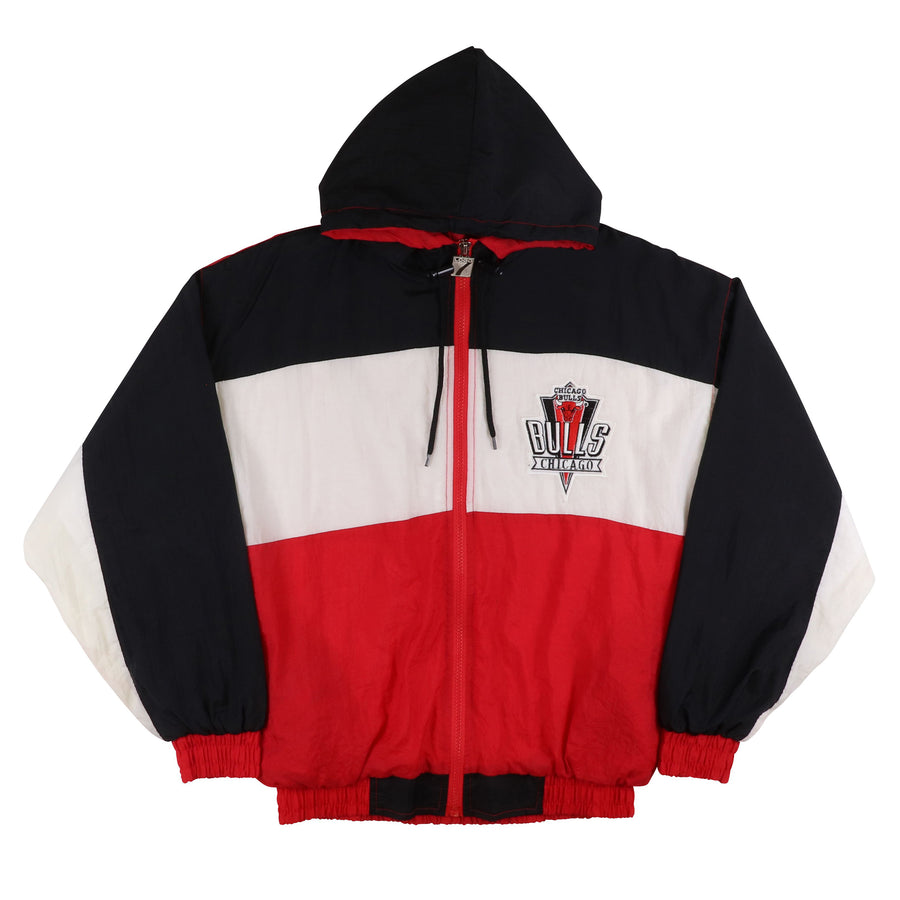 1990s Logo 7 Chicago Bulls Lined Tracksuit L Youth