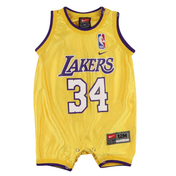 2000s Nike Los Angeles Lakers Shaquille O'Neal Onesie Jersey 12 Months