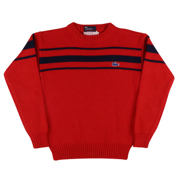 1980s Lacoste Striped Knit Sweater L Youth