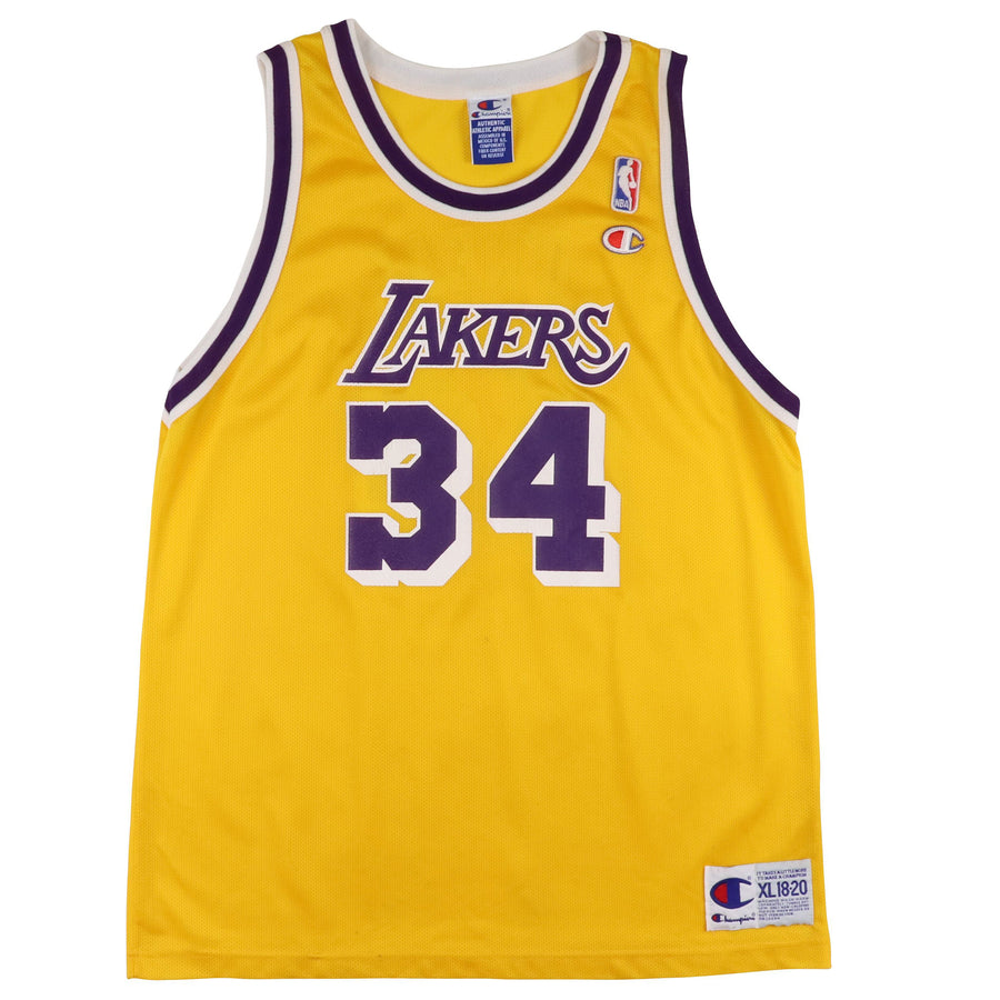 1990s Champion Los Angeles Lakers Shaquille O'Neal Jersey XL Kids