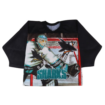 1990s CCM San Jose Sharks Dye Sublimated Fashion Jersey S/M Youth