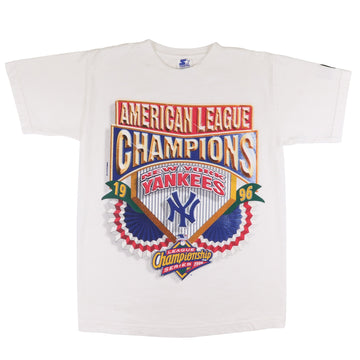 1996 Starter New York Yankees World Series Champions T-Shirt L Youth