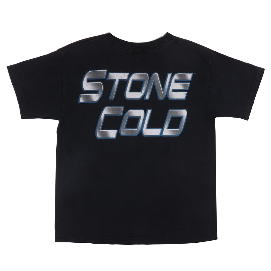 1990s Stone Cold 'Lean Mean 3:16' WWF T-Shirt L Kids