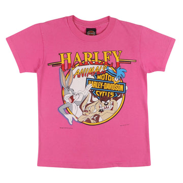 1993 Harley Davidson Looney Tunes Party Animals T-Shirt M Youth