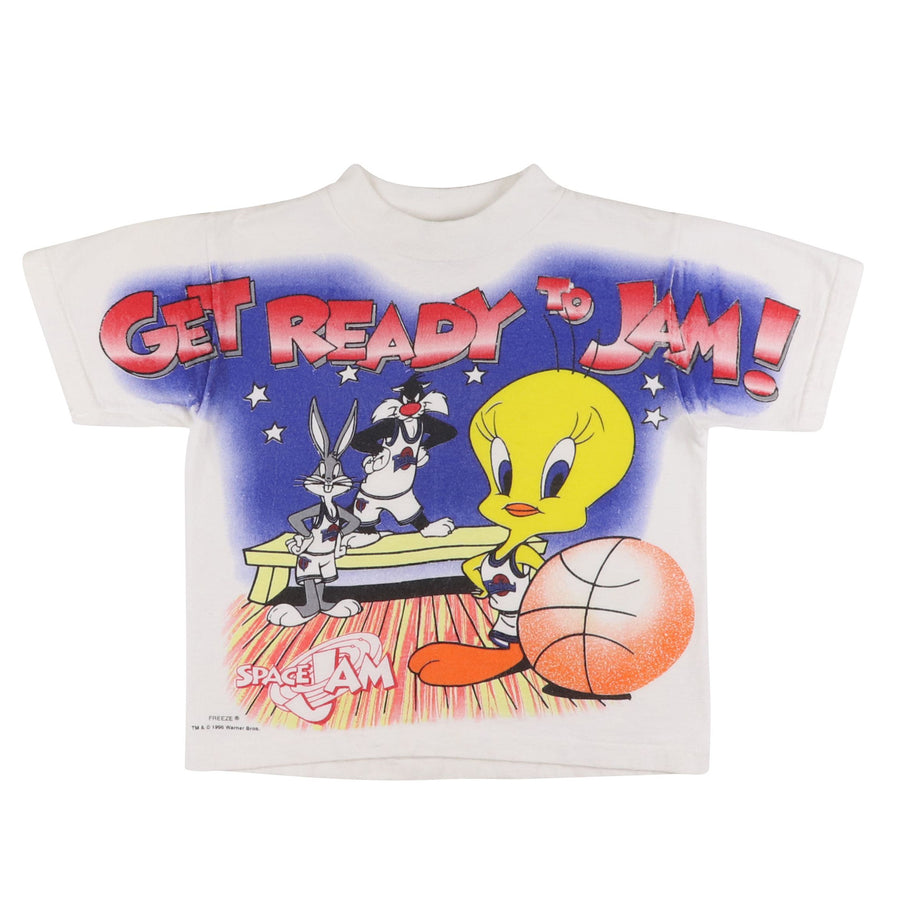 1996 Space Jam 'Get Ready To Jam' Looney Tunes T-Shirt S Kids