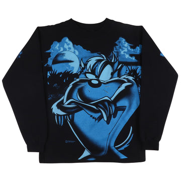 1995 Looney Tunes Tazmanian 'Taz' Devil Long Sleeve Shirt L Youth